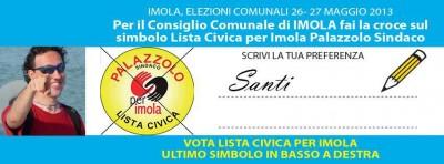 """Vota """"SANTI"""" lista civica per imola"""